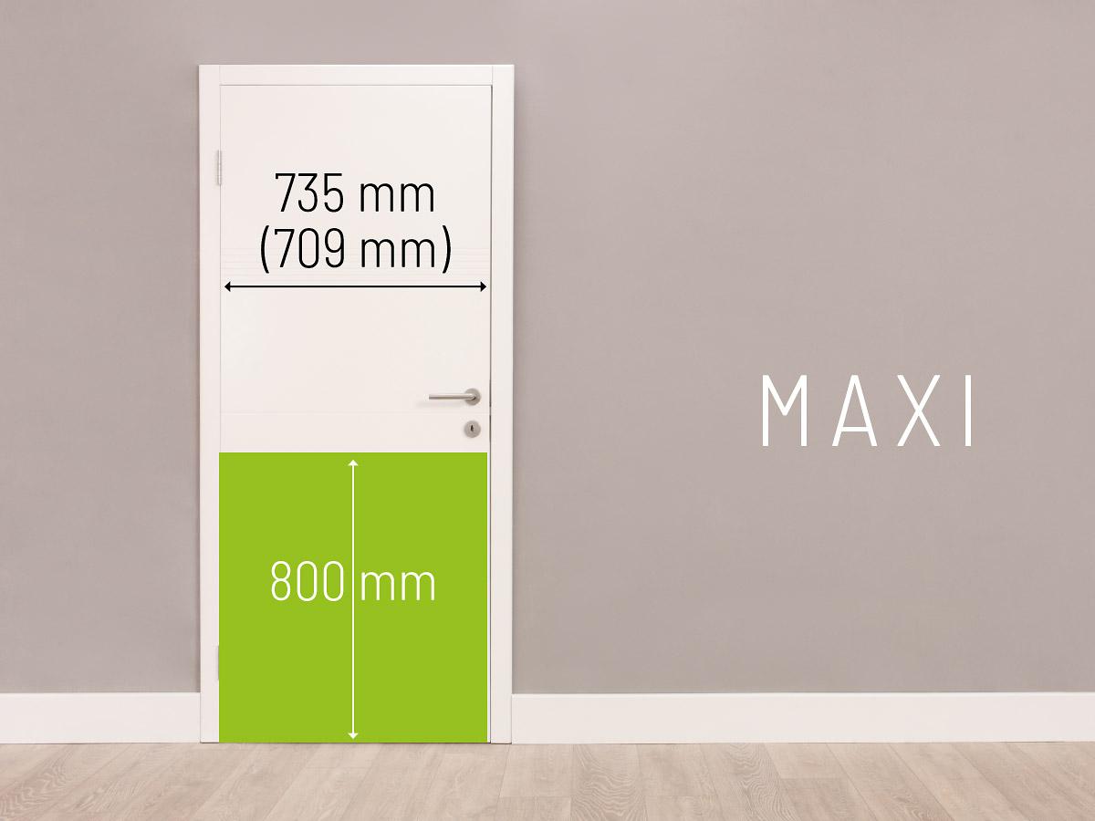 Sehr Türschutzplatte Maxi, 800 mm hoch, für Türbreite 735 mm/709 mm HP19